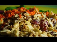 salata waldorf - YouTube Risotto, Chicken, Meat, Ethnic Recipes, Youtube, Food, Salads, Meal, Essen