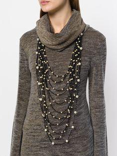 Maria Calderara layered beaded necklace