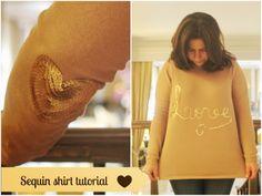 Pano pra Mangas: Tutorial: sequin shirt tutorial
