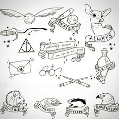 Tattoo ideas harry potter world, harry potter clip art, harry potter journal, harry Harry Potter Journal, Harry Potter Diy, Harry Potter Symbols, Small Harry Potter Tattoos, Harry Potter Tattoos Sleeve, Harry Potter Drawings Easy, Harry Potter Clip Art, Harry Potter Shoes, Harry Potter Letter
