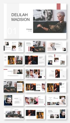 Clean & Fashion Model Presentation Template – Original and high quality PowerPoint Templat. Design Portfolio Layout, Magazine Layout Design, Photography Portfolio Layout, Design Layouts, Presentation Layout, Presentation Templates, Portfolio Presentation, Design Websites, Mise En Page Portfolio