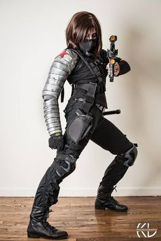 Photography: Kenny Lee Cosplay: Fem Bucky Barnes/Winter Soldier Series: Captain America Cosplayer: Toxic Girl Cosplay, Marie Kovacs Fem Winter Soldier by Toxic Girl Cosplay Superhero Cosplay, Marvel Cosplay, Cute Halloween Costumes, Halloween Cosplay, Buy Cosplay, Cosplay Costumes, Winter Soldier Cosplay, Soldier Costume, Female Thor