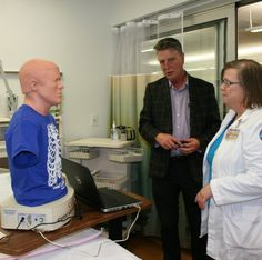 Inside the Allied Health facilities, where staff gave tours of the state of the art facilities, equipment and technology.
