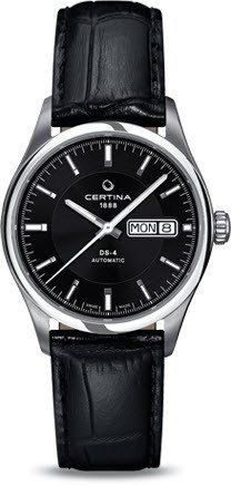 Certina Watch DS-4 Day Date Automatic #bezel-fixed #bracelet-strap-leather…