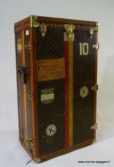 Malle  Lily Pons  de marque Louis Vuitton  pour transport de  30 Paires de souliers  femme  trunk restoration Shoe trunk