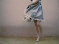 Bare feet, twirling and negative space