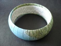 Crafts Using Old Maps | ... craftstylish com item 47060 how to make a bangle from a vintage map