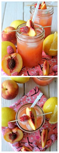 Raspberry peach lemonade.