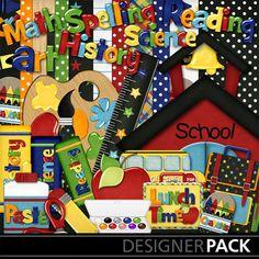 Digital Scrapbooking Kits | Back 2 School Pack | School | MyMemories