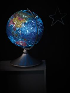 Earth and Constellation Globe, world by day, sky by night. Global World, Vintage Globe, Kids Inspire, Cox And Cox, World Globes, Map Globe, Billie Holiday, Old Maps, Constellations