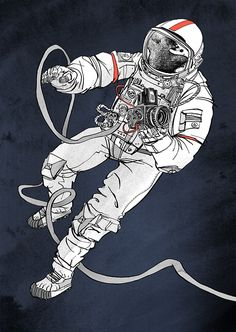Astronaut illustration for 711rent #astronaut #illustration