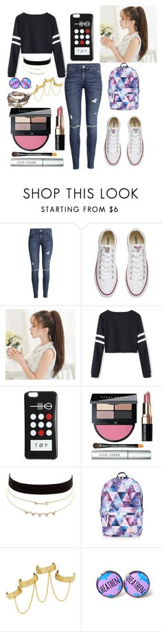 """A Best Friend's Kiss"" by pineapple0121 ❤ liked on Polyvore featuring H&M, Converse, Bobbi Brown Cosmetics, Charlotte Russe, Accessorize and House of Harlow 1960"