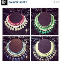 Handmade necklaces Inga Kazumyan at store Podium, Moscow @podiumfashion Thanks for the choices @polinakitsenko ☺ I\'m so proud of my mom!