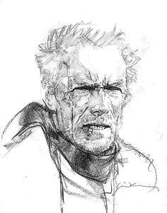 Unforgiven - Clint Eastwood by Bill Sienkiewicz