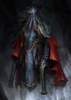 Warframe - 50 Space fathoms deep by theDURRRRIAN alien mindflayer soldier fighter gunslinger blunderbuss pistols guns armor clothes clothing fashion player character npc | Create your own roleplaying game material w/ RPG Bard: www.rpgbard.com | Writing inspiration for Dungeons and Dragons DND D&D Pathfinder PFRPG Warhammer 40k Star Wars Shadowrun Call of Cthulhu Lord of the Rings LoTR + d20 fantasy science fiction scifi horror design | Not Trusty Sword art: click artwork for source