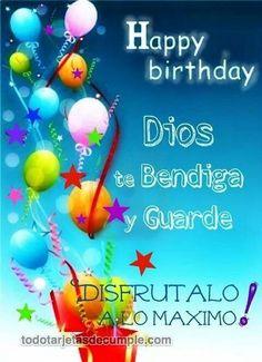 tu gracia me salvo Happy Birthday Pictures, Happy Birthday Quotes, Birthday Messages, Birthday Images, Happy Birthday Cards, Birthday Greetings, Bday Cards, Spanish Birthday Wishes, Birthday Wishes For Friend