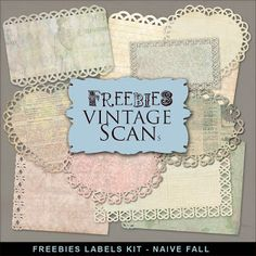 Far Far Hill - Free database of digital illustrations and papers: New Freebies Kit of Labels - Naive Fall
