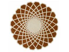 Tapete geométrico redondo de lã CALEIDO by GAN By Gandia Blasco design Odosdesign