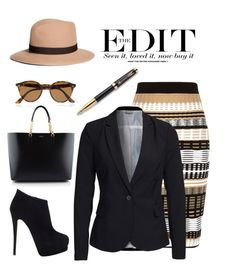 """""""The Edit"""" by conch-lady ❤ liked on Polyvore featuring Bohemia, River Island, Vero Moda, Ray-Ban, Giuseppe Zanotti, Brooks Brothers, Yves Saint Laurent and Parker"""