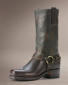 Frye Belted Harness Boots.
