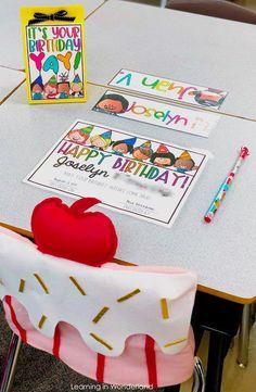 Student Birthday Tips and Tricks First Grade Classroom, Classroom Community, Future Classroom, Student Birthdays, Student Gifts, Tips And Tricks, Teacher Organization, Teacher Desks, Teacher Stuff