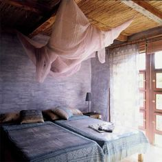 The sweet and soft simple bedroom.