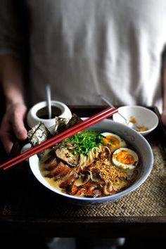 Pork belly and garlic ramen
