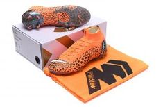 a819c757c66 Excitement Nike Mercurial Superfly VI Elite FG Flyknit 360 CR7 Exclusive  Leopard Print Orange Grey White