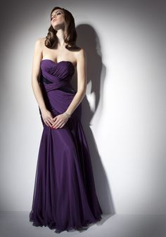 Alluring Strapless Sweetheart Neckline Purple Evening Dress $335.99 Prom Dresses