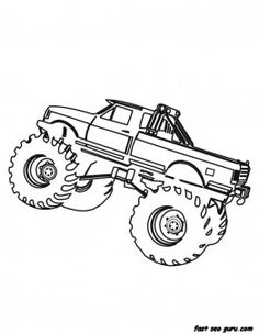 Design your own monster truck color pages | Monster Truck Birthday ...
