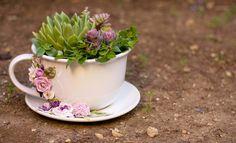 Vaso a forma di tazza con decorazioni realizzate a mano di telasimona su Etsy