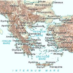 Ancient Greece Map - Map of Greece - Ancient Greek and Iliad Studies