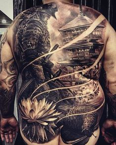 Today, millions of people have tattoos. From different cultures to pop culture enthusiasts, many people have one or several tattoos on their bodies. While a lot of other people have shunned tattoos… Back Tattoos For Guys, Full Back Tattoos, Full Sleeve Tattoos, Tattoo Sleeve Designs, Leg Tattoos, Body Art Tattoos, Fake Tattoos, Tattoo Drawings, Japanese Back Tattoo