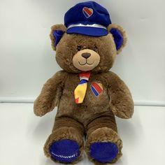 """Southwest Airlines Build A Bear Plush Hat Tie Captain Plush Stuffed Animal 16"""" #BuildABearWorkshop"""