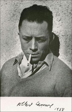 Albert Camus (1913 - 1960) Escritor vencedor do Prêmio Nobel francês, jornalista e filósofo. Seus pontos de vista contribuiram para o surgimento da filosofia conhecida como absurdismo.