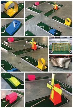 express portable mini golf putt putt course manufacturer aluminum obstacles 2