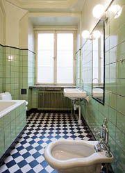 60-tals badrum - Sök på Google 1920s Bathroom, Art Deco Bathroom, Vintage Bathrooms, Bathroom Inspo, Bathroom Inspiration, Small Bathroom, New Toilet, Bad Inspiration, Interior Plants