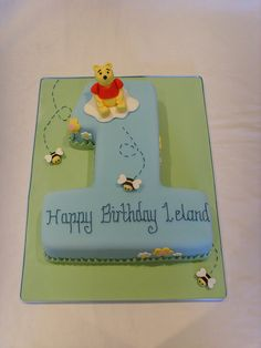 Winnie the Pooh Number One Cake by thecustomcakeshop, via Flickr