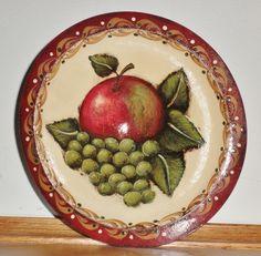Pretty wooden bowl painted by CT artist, Jain Gillespie - love her work!
