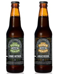 Central Coast Brewing's Tomb Series labels designed by Guru Design.