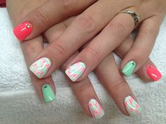 Coral and lime