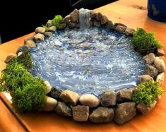 Add a Miniature Waterfall, Pond or River to your Fairy Garden Terrarium – Unique Terrarium Accessory – Handmade by Gypsy Raku Een miniatuur waterval vijver of rivier toevoegen aan uw Fairy Garden Houses, Gnome Garden, Garden Ponds, Diy Fairy House, Fairies Garden, Garden Crafts, Garden Projects, Garden Ideas, Garden Waterfall