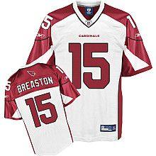 NFL Jersey Arizona Cardinals Steve Breaston #15 White $25.00