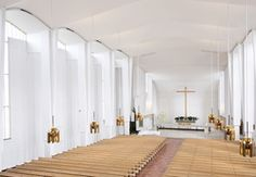 Lakeuden Risti ja seurakuntakeskus Cathedral Church, Alvar Aalto, Outdoor Events, Centre, Yard, Flooring, Building, Design, Home Decor
