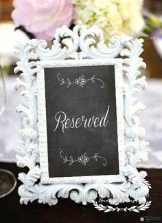 Printable Chalkboard Wedding Signs | Chalkboard Print Reserved Wedding Signs - (FLAT- Single Sided) Ready ...