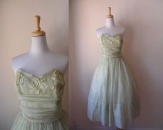 Vintage 1950s Sheer Cocktail Dress FROSTED CUPCAKE
