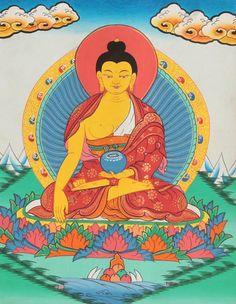 Shakyamuni buddha in bhumisparsha mudra