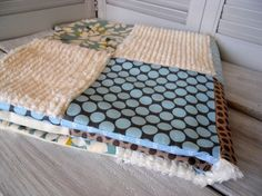 cute idea with a few chenille blocks in the top for varied textures Fun Projects, Sewing Projects, Baby Quilts, More Fun, Sewing Ideas, Hobbies, Polka Dots, Texture