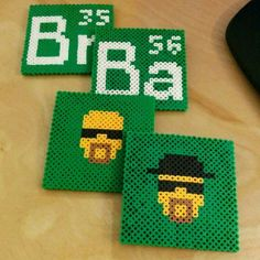 Breaking Bad coasters perler beads by covetouzcreature