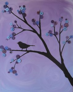 bird in a button tree